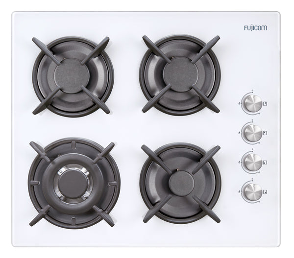 GAS HOB 60 CM WITH GLASS SURFACE + TURBO BURNER