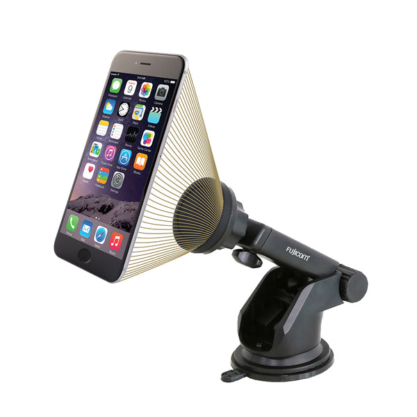 Telescopic magnet car holder