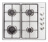 GAS HOB 60 CM WITH BRUSHED STAINLESS STEEL SURFACE
