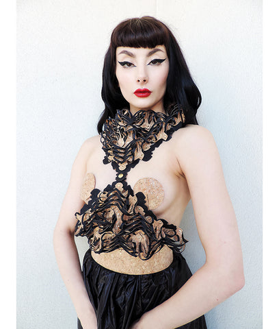 ALCHEMY PYRAMID Harness and Neckpiece - Ada Zanditon Couture