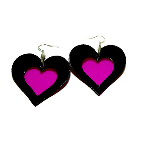 Love Heart Earrings (many colours available ) NEW - Ada Zanditon Couture