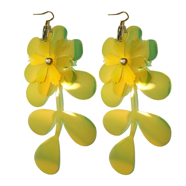 Full Flower Fantasy Earrings (multiple colours available) NEW - Ada Zanditon Couture