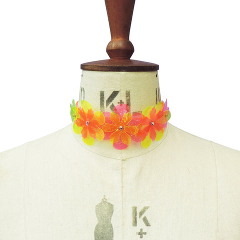 Flower Power Choker (multiple colours available) - Ada Zanditon Couture