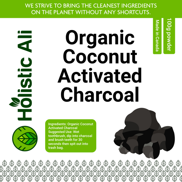100% Organic Coconut Charcoal 100g + Free Toothbrush