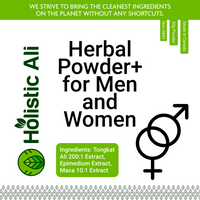 Herbal Powder for Men and Women Blend - Tongkat Ali 200:1, and mixed Maca 0.6% Extract, Epimedium Extra Strength 30g BUY ONE GET ONE FREE