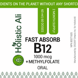 Holistic Ali Fast Absorb B12 + Active Folate Buy One Get One Free