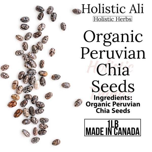 Chia Seeds 1lb Bag Organically grown from Peru