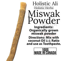 High Quality Natural 10:1 Miswak tooth Powder + Free Toothbrush 100g