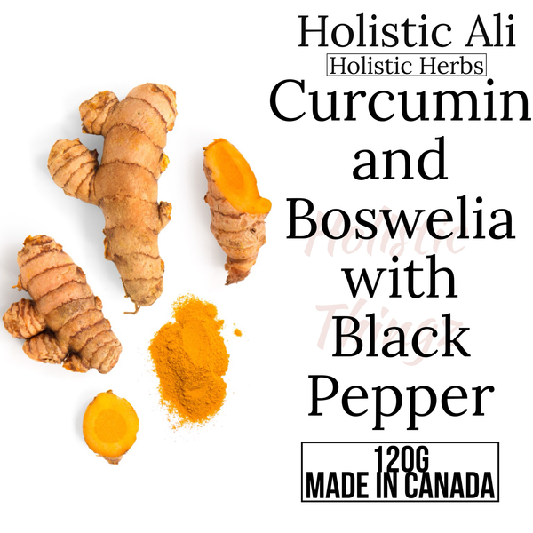 95% Curcumin + Boswellia Extract and Black Pepper Powder (2 Sizes)