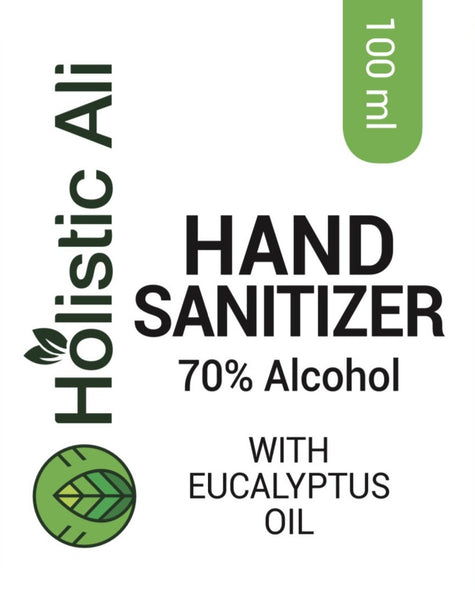 3-125ml Bottles Holistic Ali Hand Sanitizer 70% Ethyl Alcohol with Eucalyptus Oil