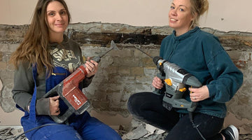 Kate and Ella, plasterers, property developers, and sisters-in-law killing it in their trade!