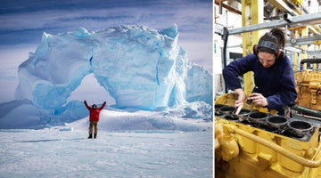 A female machine fitter from Australia who embarked on an epic journey to work in the Antarctica