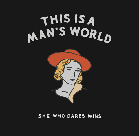 This is a man's world logo