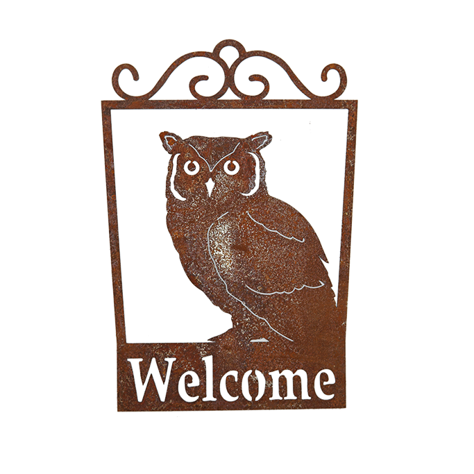 *W3987  Owl Welcome signs
