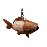 *SH0705  Stone fish with chain hook