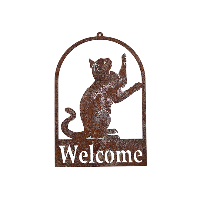 *W3942  Cat Welcome Signs