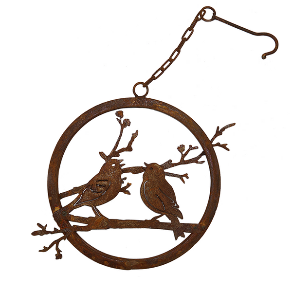 *W4273  Love Birds Branch Ring with hook