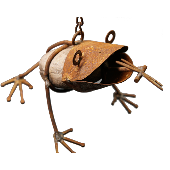 *SH0706  Stone frog with chain hook