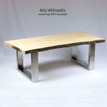 SS100D2 Stainless Steel Coffee Table U Legs