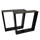 SS220W2 Trapezoid Coffee Table Legs, Wide Top, 1 Pair 40cm
