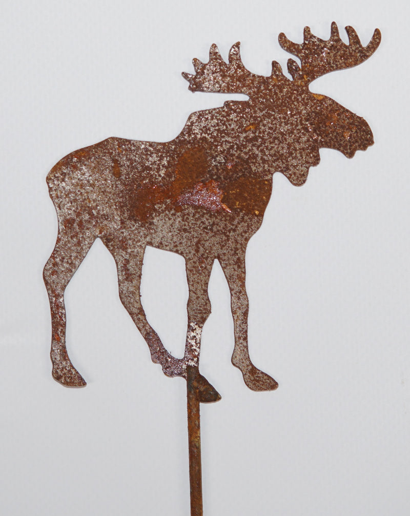 Stag stake - rusted garden stakes