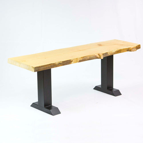 SS800 Tee Shape Bench legs, 1 Pair, Black Powder Coated, 40 x 20cm