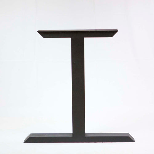 SS810 Tee Shape Dining Table legs, 1 Pair, Black Powder Coated, 71 x 50cm