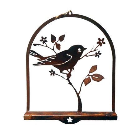 *W4280  Frame chickadees & berries
