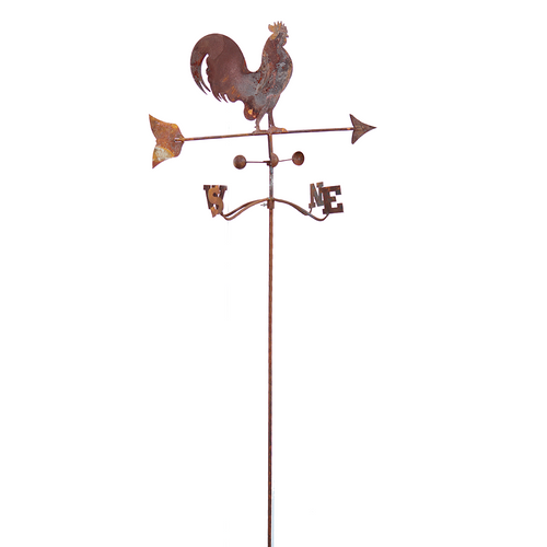 W3530D  Wheathervane twist stake small rooster