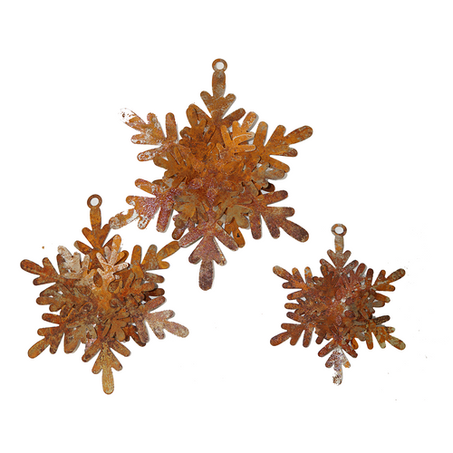 W3737 Snowflake decor Set of 3
