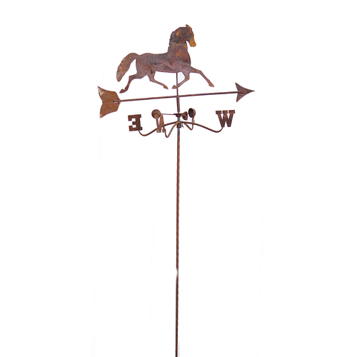 W3949  Wheathervane twist stake small horse