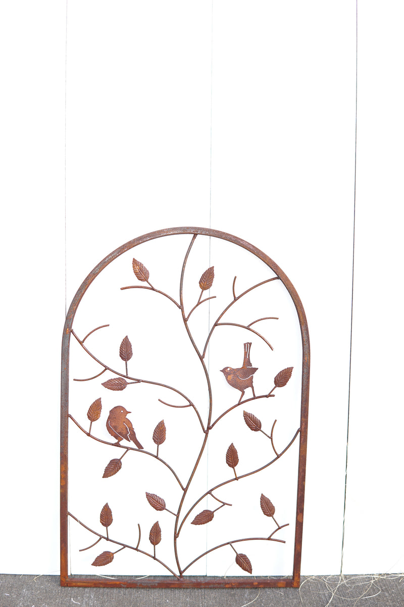 W4216B  Trellis with bird and leaves small