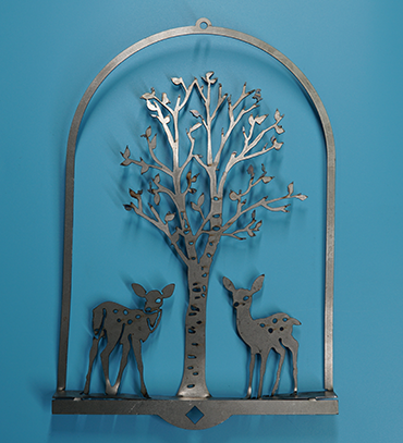 Fawn & Birch 3D Wall Art - rusted metal arts in garden