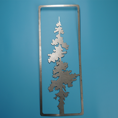 W4417 Pine Wall Art -  Rust & Raw Steel