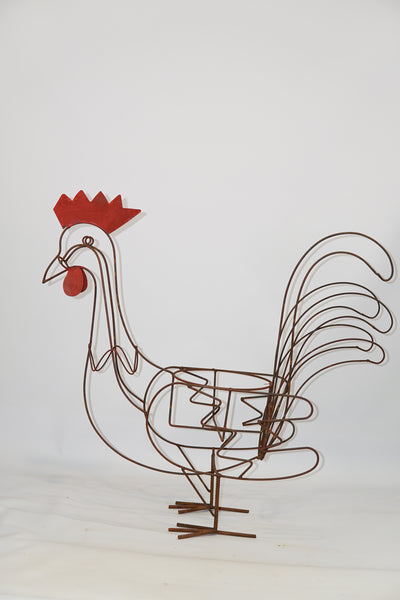 W4862  Rooster planter