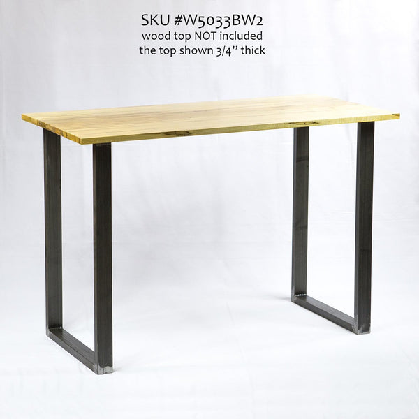 W5033BW Writing desk table U legs, 1 Pair (Set of 2 legs) 71cm tall