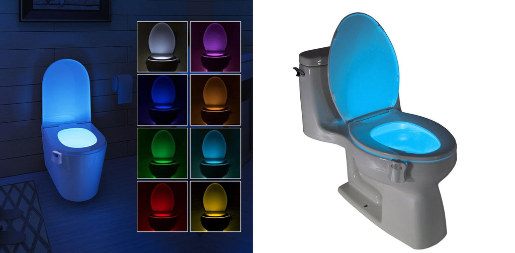 8 Colors Bowl Toilet Night LED Light with Motion Sensor Healthier Lifestyle 4 All One unit