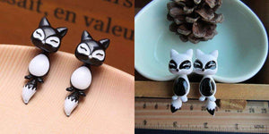 Cute Cat Earrings Healthier Lifestyle 4 All Black
