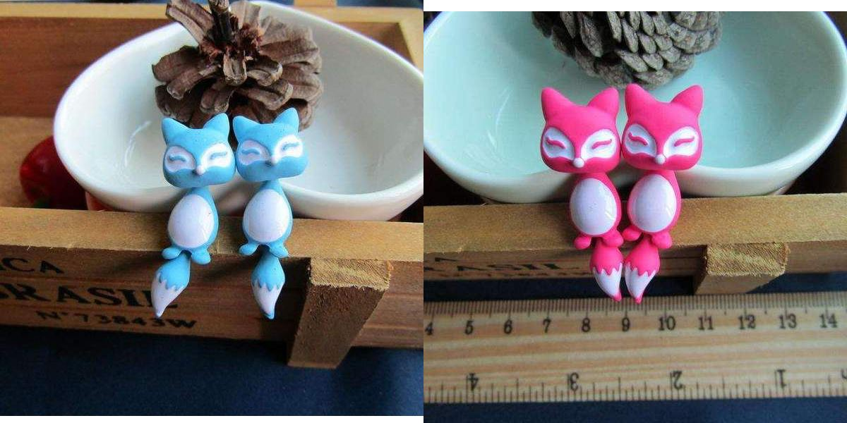 Cute Cat Earrings Healthier Lifestyle 4 All Blue