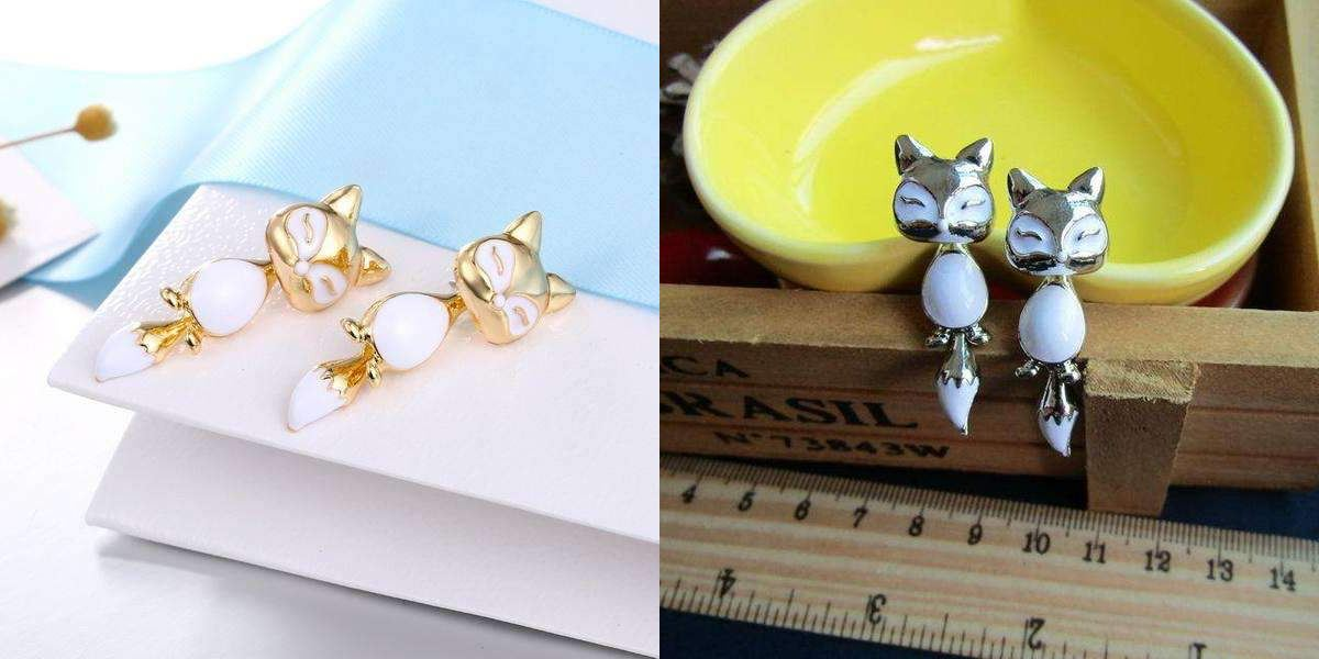 Cute Cat Earrings Healthier Lifestyle 4 All Golden