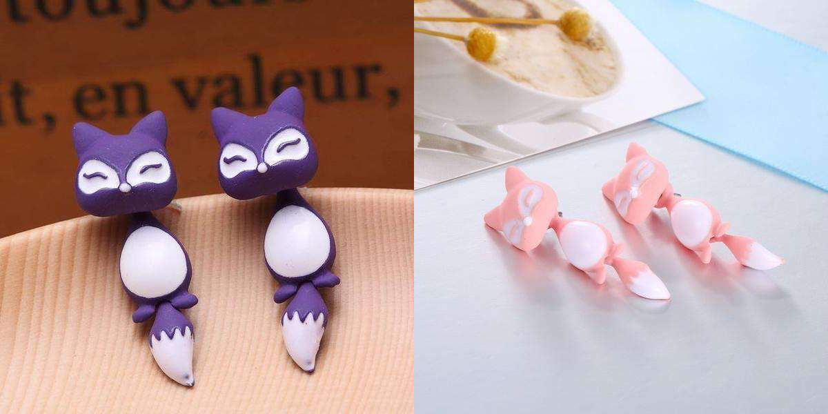 Cute Cat Earrings Healthier Lifestyle 4 All Pink