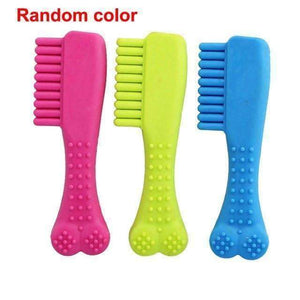 Cute Rubber Bite for Cleaning Teeth Healthier Lifestyle 4 All Bone Comb
