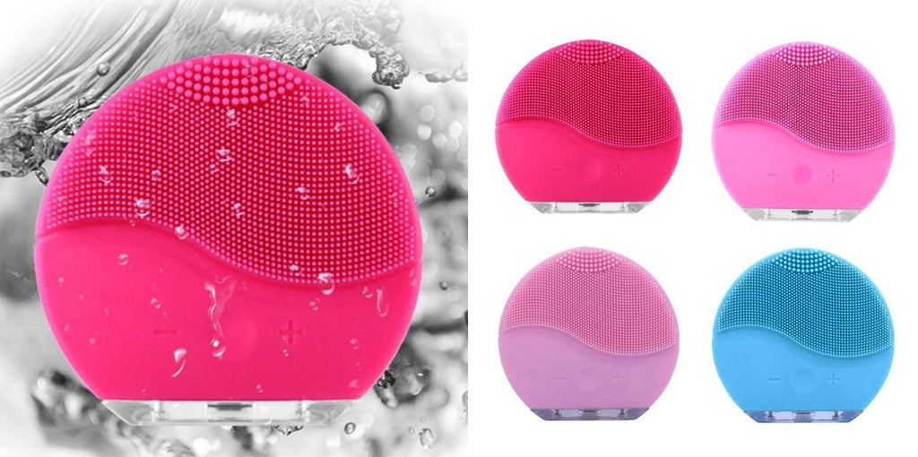 Facial Sonic Silicone Cleanser Brush Fit Lifestyle For You Pink