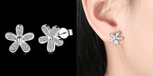 Flower Swarovski Earrings Healthier Lifestyle 4 All