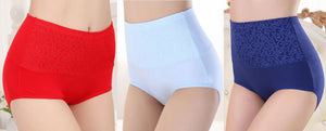 High waist ultra thin Shaping panties Healthier Lifestyle 4 All Red L
