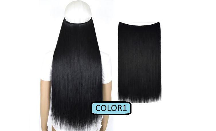Invisible Halo Hair Extensions, Straight (24 in, 59 cm) Healthier Lifestyle For You 1 - Jet black