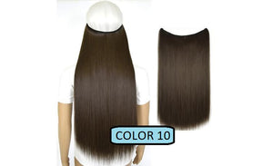 Invisible Halo Hair Extensions, Straight (24 in, 59 cm) Healthier Lifestyle For You 10 - Medium ash brown
