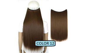 Invisible Halo Hair Extensions, Straight (24 in, 59 cm) Healthier Lifestyle For You 12 - Medium ginger brown