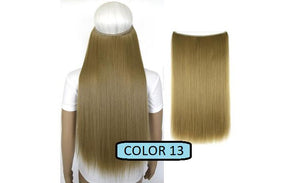 Invisible Halo Hair Extensions, Straight (24 in, 59 cm) Healthier Lifestyle For You 13 - Light ash blonde