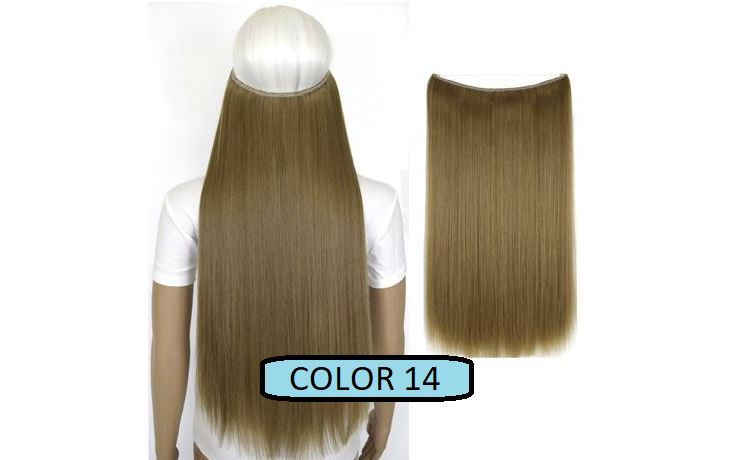 Invisible Halo Hair Extensions, Straight (24 in, 59 cm) Healthier Lifestyle For You 14 - Light ash blonde mix Straw ash